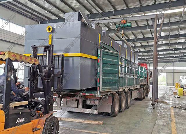 安徽客户用于养殖污水处理的地埋式一体化污水处理设备发货