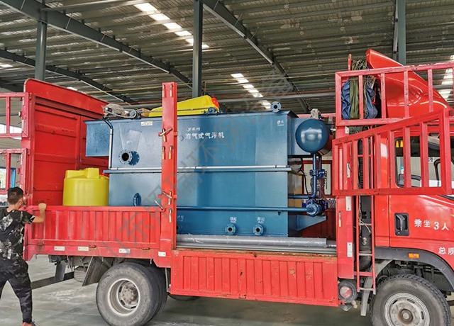 9月1日日照食品污水处理设备生产完成按时发货