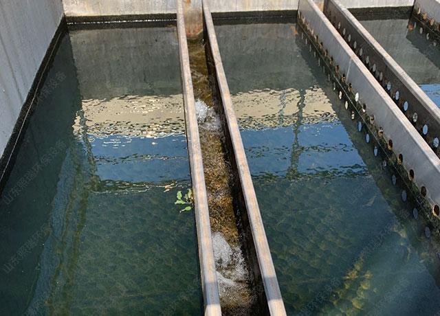 山东照瑞环保技术工作人员到安徽某污水处理厂设备维护工作实拍