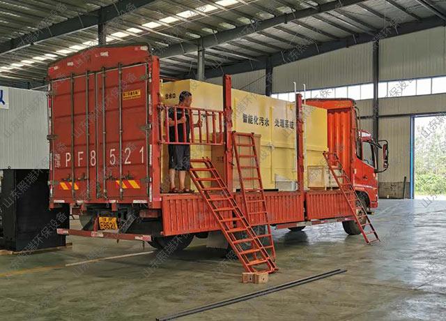 8月8日江西南丰客户用于养殖污水处理的一体化污水处理设备检验完成发货