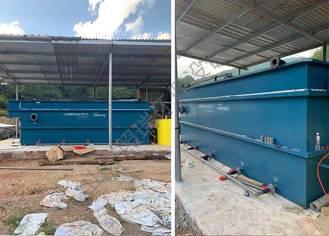福建养殖污水处理的溶气式气浮机安装调试验收完成