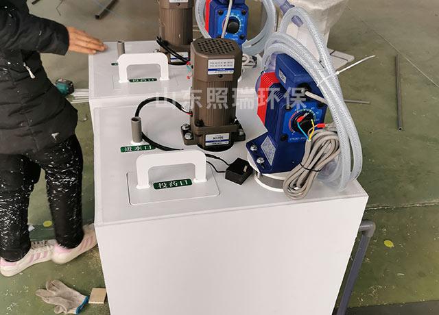 2021年山东照瑞环保为河南定制得用于医疗污水处理得电解二氧化氯发生器发货