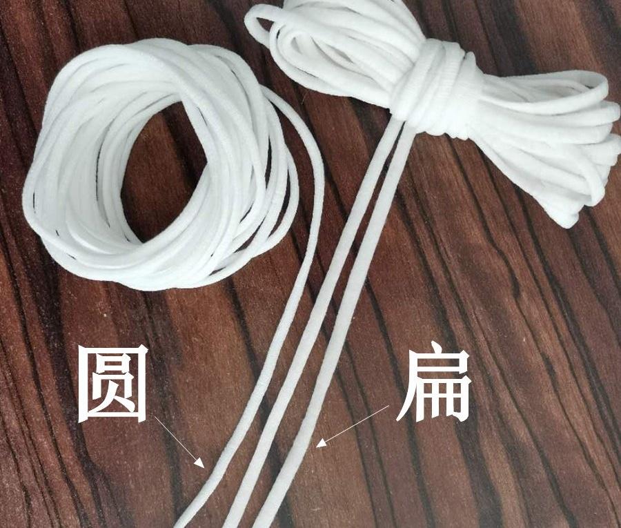 口罩耳带,一次性口罩耳绳材质