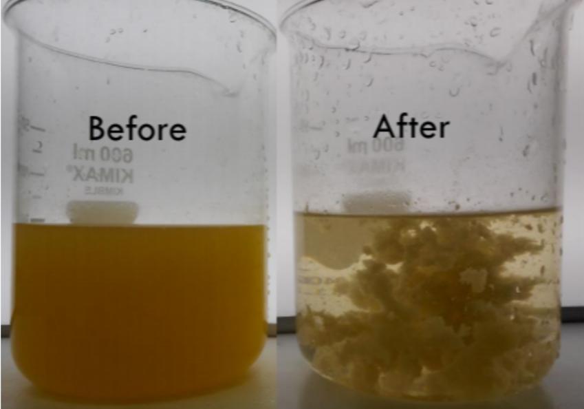 絮凝效果比对-东保絮凝剂